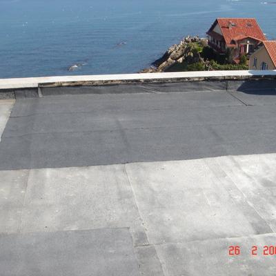 Lamina sobre terraza