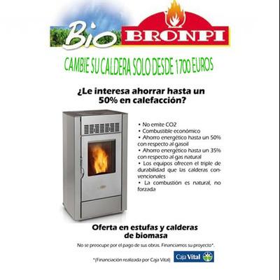 Oferta en estufas y calderas de biomasa