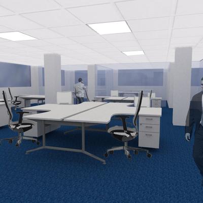 Renderizado de renovación de oficinas integral