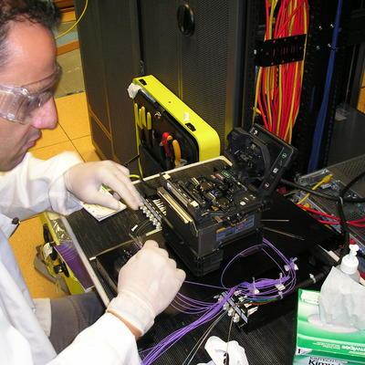 Fusion de fibra optica y pruebas reflectometricas