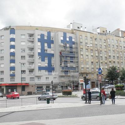 Restauracion de fachada en Av. Santander