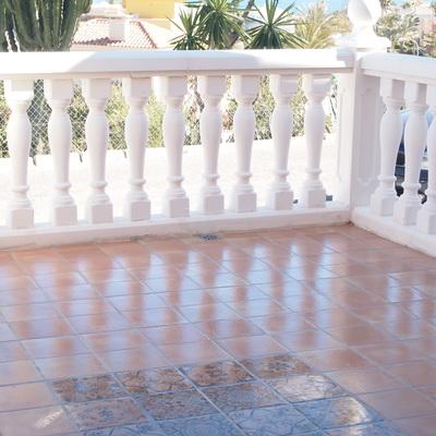 Terraza con balustrada