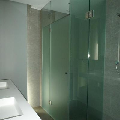 Mampara de baño vidrio mate