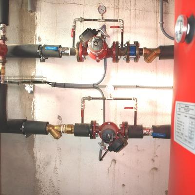 circuito hidraúlico de caldera de pellets de 180 kW