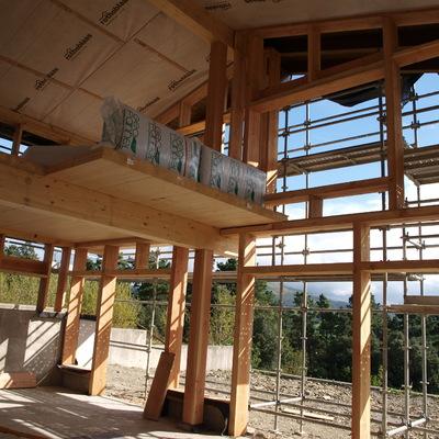 estructura casa de paja en Zumaia (Gipuzkoa)