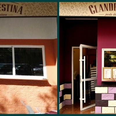 fachada antes y después