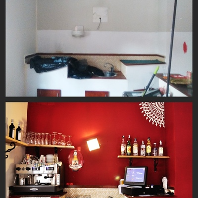 barra antes y después
