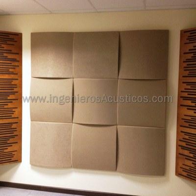Paneles acústicos como absorbentes acústicos