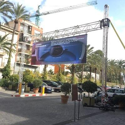 pantalla de video LED de 7,5 x 2,5