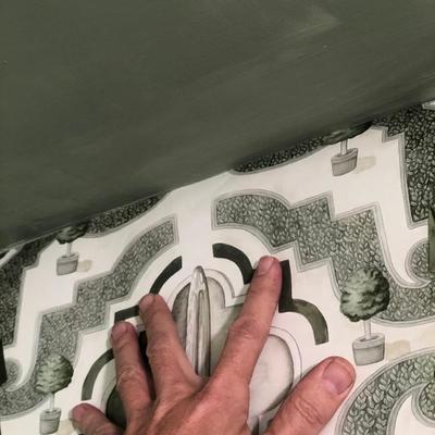 Pruebas de papel Pintado. Lamadrid Interiorismo