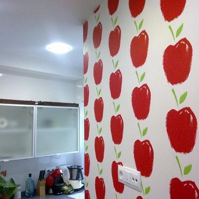 Papel pintado vinilico en cocina