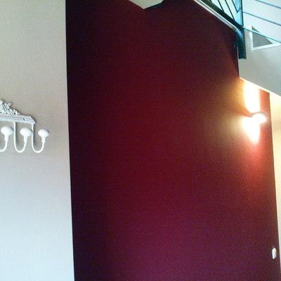 Pared color vestíbulo