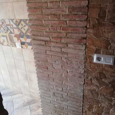 Pared ladrillo rustico