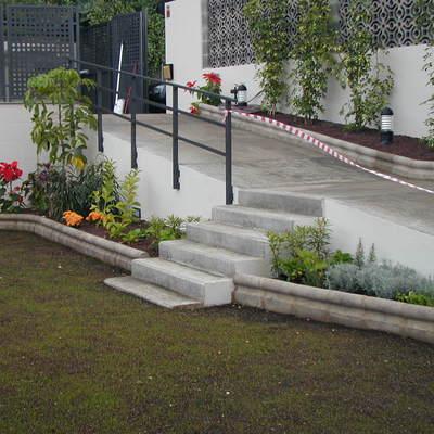 Parte de los jardines de la vivienda