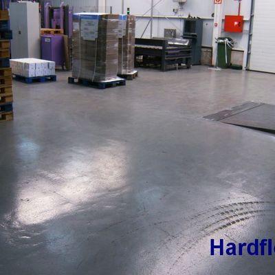 pavimento resina epoxy  (morteros seco epoxi) en muelle de expediciones