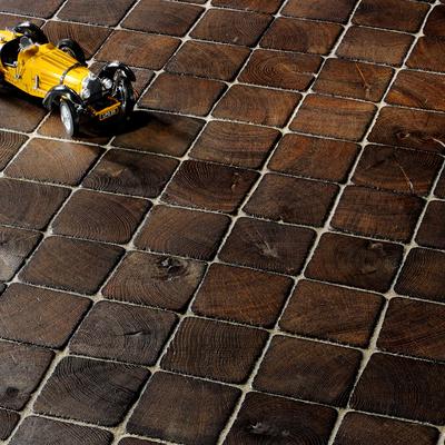 Pavimento de adoquín de madera