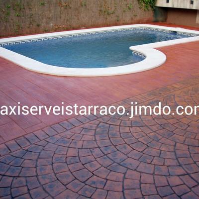 Maxi serveis tarraco tarragona for Pavimento impreso tarragona