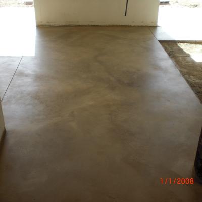 Pavimento pulido interior color crema
