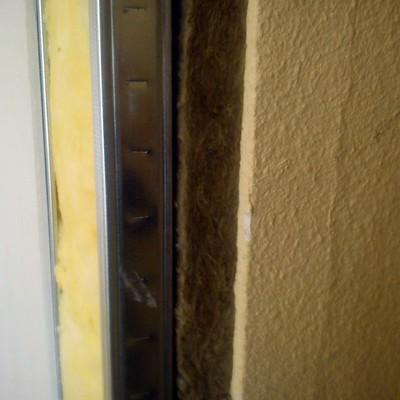 Perfil de una pared aislada acusticamente