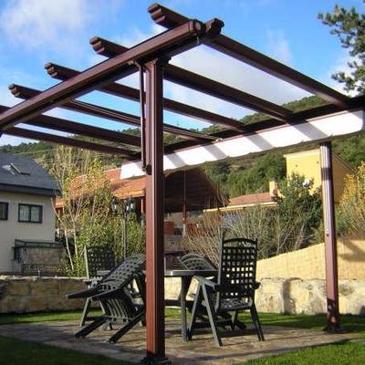 Pergolas de hierro baratas finest pergola madera barata - Como hacer una pergola de hierro ...