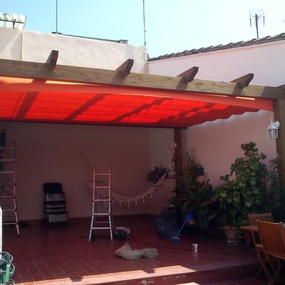 Presupuesto instalar toldo corredero online habitissimo for Pergola toldo corredero
