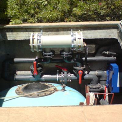 Instalación de clorador salino