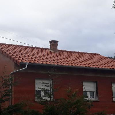 Reparacion de cubierta en vivienda unifamiliar