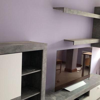 Pintura, suelo y mobiliario