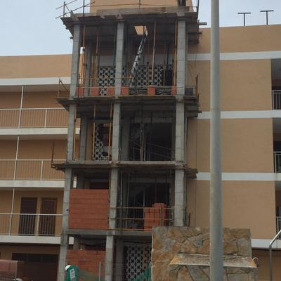 1ª Fase - Construcción de estructura para ascensor