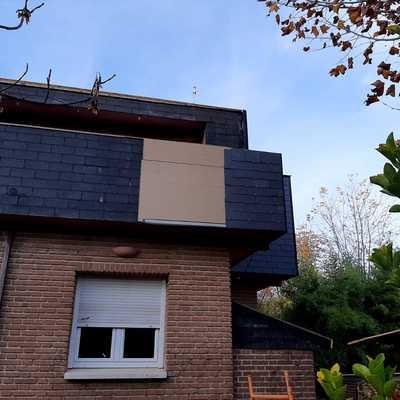 Saneamiento de tejado de Pizarra