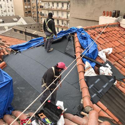 Rehabilitación estructural en cubierta