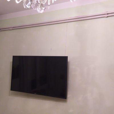 Instalación de Televisión en Pared dehabitación