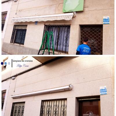 Limpieza fachada monocapa china