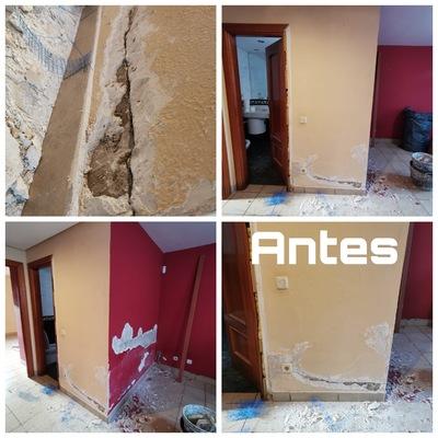 Saneo de paredes por humedades antes po