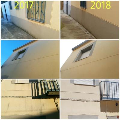 Limpieza de fachada en vivienda particular