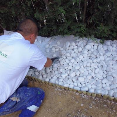 Piedra de grava blanca seleccionada