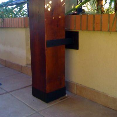Pilar pergola madera