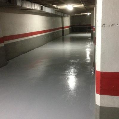Pintado de pavimento de parquing