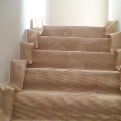 tapado de escaleras