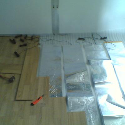 Instalación suelo radiante por folio