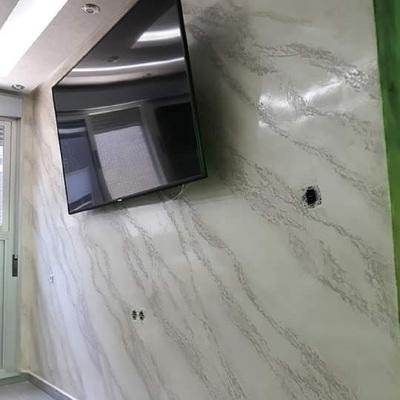 Marmoleado, habitacion con estuco marmoleado