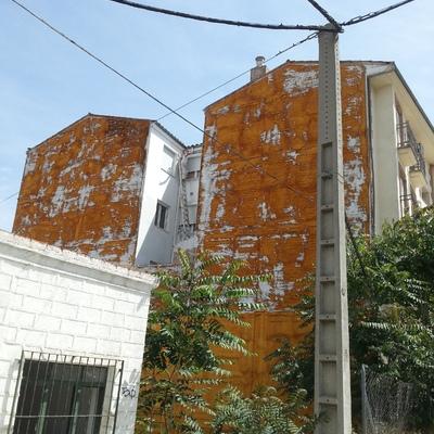 pintura de patio interior en comunidad