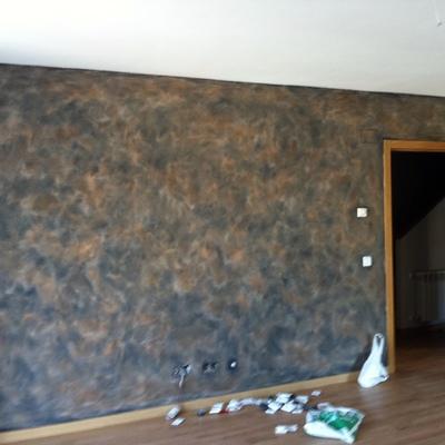Pintura decorativa efecto oxido