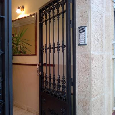 Pintura puerta de entrada