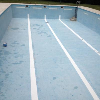 piscina antes