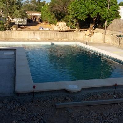 piscina en marcha