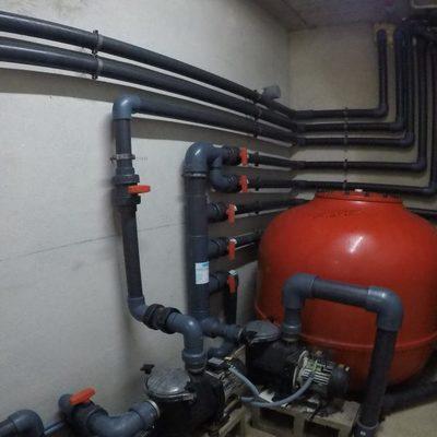 Sala de máquinas piscina