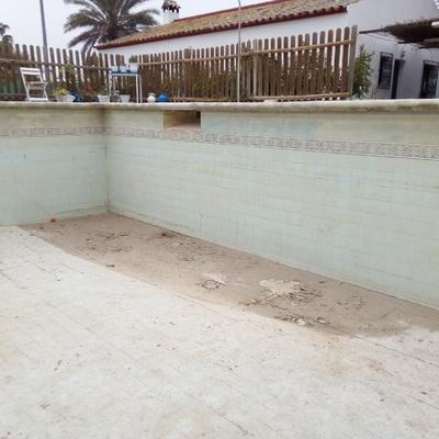 piscina a reparar