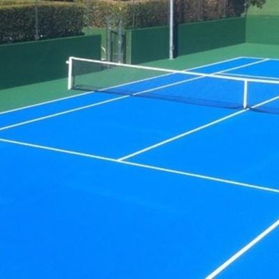 Pintura de pista de Tenis sobre pavimento de clorocaucho