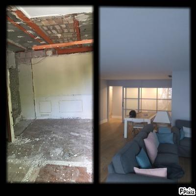 Antes y después de un salón que hemos reformado